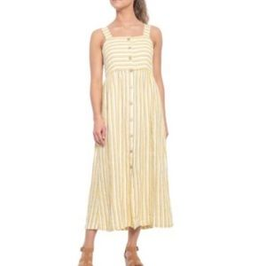 Rachel Zoe Farm Stripe Strappy Button Maxi Sz. 6